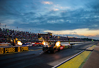 May 4, 2018; Commerce, GA, USA; NHRA top fuel driver Terry McMillen during qualifying for the Southern Nationals at Atlanta Dragway. Mandatory Credit: Mark J. Rebilas-USA TODAY Sports