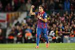 Barcelona's Alexis Sanchez goal during la liga match on april 21st 2012...Photo: Cesar Cebolla / ALFAQUI