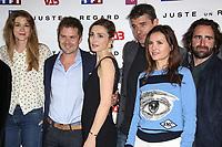 DELPHINE SAGNIER, RENAUD LEYMANS, JULIE GAYET, THIERRY NEUVIC, VIRGINIE LEDOYEN, LUDOVIC COLBEAU JUSTIN - PHOTOCALL 'JUSTE UN REGARD' AU CINEMA GAUMONT MARIGNAN A PARIS, FRANCE, LE 11/05/2017.