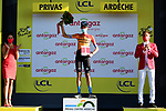 Wouter Poels (NED) Bahrain McLaren wins the day's combativity prize at the end of Stage 5 of Tour de France 2020, running 183km from Gap to Privas, France. 2nd September 2020.<br /> Picture: ASO/Alex Broadway   Cyclefile<br /> All photos usage must carry mandatory copyright credit (© Cyclefile   ASO/Alex Broadway)
