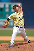Zach Brewster #35 of the Georgia Tech Yellow Jackets in action versus the Florida State Seminoles at Durham Bulls Athletic Park May 23, 2009 in Durham, North Carolina.  (Photo by Brian Westerholt / Four Seam Images)