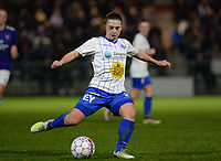 20180126 - OOSTAKKER , BELGIUM : Gent's Jody Vangheluwe pictured during the quarter final of Belgian cup 2018 , a womensoccer game between KAA Gent Ladies and RSC Anderlecht , at the PGB stadion in Oostakker , friday 27 th January 2018 . PHOTO SPORTPIX.BE   DAVID CATRY