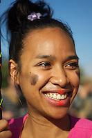 """Anlaesslich der Modeveranstaltung """"Fashion Week"""" demonstrierten einige hundert Menschen am Samstag den 6. Juli 2013 in Berlin gegen die Produktionsbedingungen von Kleidung in Fernost und gegen den ihrer Meinung nach """"Fashion-Terror"""".<br />6.7.2013, Berlin<br />Copyright: Christian-Ditsch.de<br />[Inhaltsveraendernde Manipulation des Fotos nur nach ausdruecklicher Genehmigung des Fotografen. Vereinbarungen ueber Abtretung von Persoenlichkeitsrechten/Model Release der abgebildeten Person/Personen liegen nicht vor. NO MODEL RELEASE! Don't publish without copyright Christian-Ditsch.de, Veroeffentlichung nur mit Fotografennennung, sowie gegen Honorar, MwSt. und Beleg. Konto:, I N G - D i B a, IBAN DE58500105175400192269, BIC INGDDEFFXXX, Kontakt: post@christian-ditsch.de<br />Urhebervermerk wird gemaess Paragraph 13 UHG verlangt.]"""