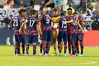 KANSAS CITY, KS - JULY 11: USMNT starting eleven during a game between Haiti and USMNT at Children's Mercy Park on July 11, 2021 in Kansas City, Kansas.
