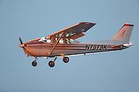 Feb 11, 2017; Pomona, CA, USA; A Cessna propeller airplane flies over Auto Club Raceway at Pomona during NHRA qualifying for the Winternationals. Mandatory Credit: Mark J. Rebilas-USA TODAY Sports