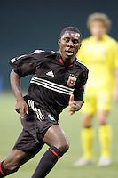 7 May 2005. DC United's Freddy Adu (9) sprints forward at RFK Stadium in Washington, DC.