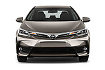 Car photography straight front view of a 2017 Toyota Corolla Lounge 4 Door Sedan Front View
