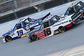 #19: Derek Kraus, McAnally Hilgemann Racing, Toyota Tundra NAPA AUTOCARE, #16: Austin Hill, Hattori Racing Enterprises, Toyota Tundra TRD / United Rentals