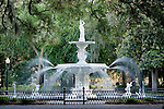 The Forsyth fountain in Forsyth Park - in Savannah, GA, USA
