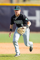 Coastal Carolina Chanticleers third baseman Zach Remillard (7) on defense against the High Point Panthers at Willard Stadium on March 15, 2014 in High Point, North Carolina.  The Chanticleers defeated the Panthers 1-0 in the first game of a double-header.  (Brian Westerholt/Four Seam Images)