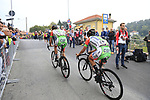 Luca Wackermann and Daniel Savini (ITA) Bardiani-CSF climb the Superga for the 1st ascent during the 99th edition of Milan-Turin 2018, running 200km from Magenta Milan to Superga Basilica Turin, Italy. 10th October 2018.<br /> Picture: Eoin Clarke | Cyclefile<br /> <br /> <br /> All photos usage must carry mandatory copyright credit (© Cyclefile | Eoin Clarke)