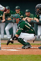 USF Bulls catcher Blake Sydeski #25 during a game against the Minnesota Gophers at the Big Ten/Big East Challenge at Al Lang Stadium on February 19, 2012 in St. Petersburg, Florida.  (Mike Janes/Four Seam Images)