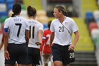 Abby Wambach at the 2010 Algarve Cup.