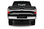 Straight rear view of 2016 Nissan Titan SL 4 Door Pickup Rear View  stock images