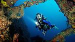 Diver on The Eagle, Islamorada, Florida