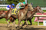 SEPT 25, 2021: Magic Michael,#4, ridden by Frankie Pennington, wins the Gr.3  Greenwood Cup Stakes, going 1 1/2 miles, at Parx Racing, Bensalem, PA. Sue Kawczynski/Eclipse Sportswire/CSM
