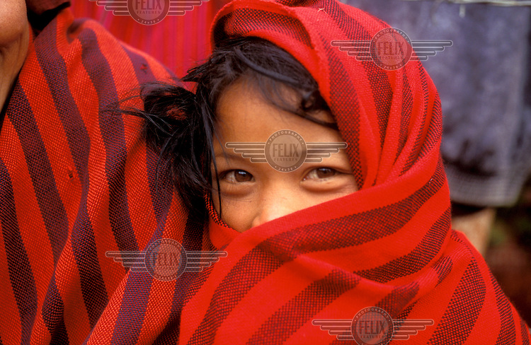 © Jean Leo Dugast / Panos Pictures..Tichit, Shan State, Burma (Myanmar)...Young girl from the Pa-o minority.