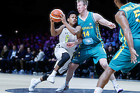 July 14, 2016: TRA HOLDER (6) of the Arizona State Sun Devils drives to the basket during game 2 of the Australian Boomers Farewell Series between the Australian Boomers and the American PAC-12 All-Stars at Hisense Arena in Melbourne, Australia. Sydney Low/AsteriskImages.com