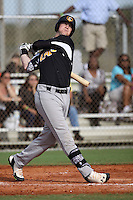 Justin Bellinger, #7 of Starr Mill High School, GA playing for the Evoshield Canes Team during the WWBA World Championship 2013 at the Roger Dean Complex on October 27, 2013 in Jupiter, Florida. (Stacy Jo Grant/Four Seam Images)