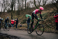 Sep Vanmarcke (BEL/Education First-Drapac) up the Trieu<br /> <br /> 73rd Dwars Door Vlaanderen 2018 (1.UWT)<br /> Roeselare - Waregem (BEL): 180km