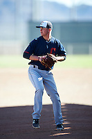 Cleveland Indians pitcher Ben Krauth (37) throws in the bullpen during an Instructional League game against the Kansas City Royals on October 11, 2016 at the Cleveland Indians Player Development Complex in Goodyear, Arizona.  (Mike Janes/Four Seam Images)