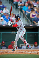 Syracuse Chiefs first baseman Neftali Soto (5) bats during a game against the Buffalo Bisons on July 3, 2017 at Coca-Cola Field in Buffalo, New York.  Buffalo defeated Syracuse 6-2.  (Mike Janes/Four Seam Images)