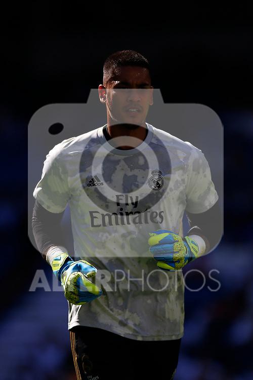 Real Madrid CF's Alphonse Areola  during the Spanish La Liga match round 8 between Real Madrid and Granada CF at Santiago Bernabeu Stadium in Madrid, Spain