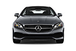 Car photography straight front view of a 2018 Mercedes Benz E-Class E400 2 Door Coupe