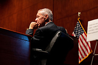 """United States Representative Ken Buck (Republican of Colorado) listens during a US House Judiciary committee hearing on """"Oversight of the Department of Justice: Political Interference and Threats to Prosecutorial Independence"""" on Capitol Hill in Washington DC on June 24th, 2020.<br /> Credit: Anna Moneymaker / Pool via CNP/AdMedia"""