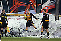 04/12/2010   Copyright  Pic : James Stewart.sct_jsp025_alloa_v_peterhead  .:: MARK BROWN RETRIEVES THE BALL FROM THE SNOW ::.James Stewart Photography 19 Carronlea Drive, Falkirk. FK2 8DN      Vat Reg No. 607 6932 25.Telephone      : +44 (0)1324 570291 .Mobile              : +44 (0)7721 416997.E-mail  :  jim@jspa.co.uk.If you require further information then contact Jim Stewart on any of the numbers above.........
