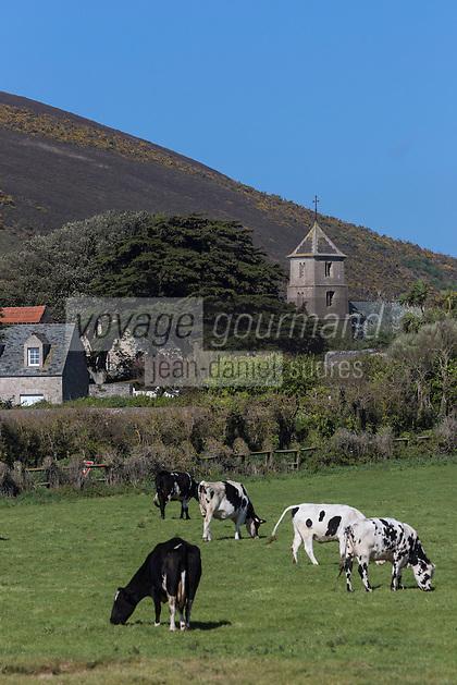Europe/France/Normandie/Basse-Normandie/50/Manche/ Vauville: le village //   <br />   France, Manche, Vauville,