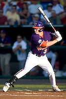 Clemson's Jeff Schaus in Game 14 of the NCAA Division One Men's College World Series on June 26th, 2010 at Johnny Rosenblatt Stadium in Omaha, Nebraska.  (Photo by Andrew Woolley / Four Seam Images)
