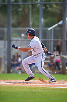 FIU Panthers third baseman Austin Shenton (6) bats during a game against the South Dakota State Jackrabbits on February 23, 2019 at North Charlotte Regional Park in Port Charlotte, Florida.  South Dakota defeated FIU 4-3.  (Mike Janes/Four Seam Images)