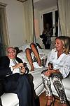"""NINO MARAZZITA CON ROSANNA LAMBERTUCCI<br /> """"PARTY ANTICRISI CON ESORCISMI"""" DI PAOLO PAZZAGLIA<br /> PALAZZO FERRAJOLI  ROMA 2011"""