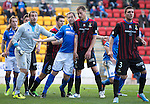 St Johnstone v Inverness Caledonian Thistle...05.10.13      SPFL<br /> Frazer Wright battles with Dean Brill and Josh Meekings<br /> Picture by Graeme Hart.<br /> Copyright Perthshire Picture Agency<br /> Tel: 01738 623350  Mobile: 07990 594431