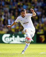 Gylfi Sigurosson of Swansea   during the Barclays Premier League match Watford and Swansea   played at Vicarage Road Stadium , Watford
