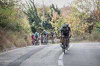 Winner Anacona (COL/Movistar) breaking away from the peloton<br /> <br /> 98th Milano - Torino 2017 (ITA) 186km