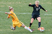 June 4, 2016: KATRINA GORRY (19) of Australia and BETSY HASSETT (12) of New Zealand compete for the ball during an international friendly match between the Australian Matildas and the New Zealand Football Ferns as part of the teams' preparation for the Rio Olympic Games at Morshead Park in Ballarat. Photo Sydney Low