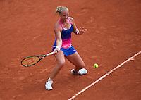 Paris, France, 24 June, 2016, Tennis, Roland Garros,  Kiki Bertens (NED) upset 13h seat Kerber of Germany in the first round<br /> Photo: Henk Koster/tennisimages.com