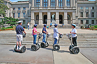 Woman on City Segway Tour state capitol building Atlanta Georgia