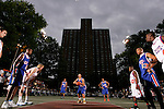 Michael Beasley (30) shoots a free throw during the Elite 24 Hoops Classic game on September 1, 2006 held at Rucker Park in New York, New York.  The game brought together the top 24 high school basketball players in the country regardless of class or sneaker affiliation.