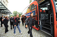 Players of the US team arrive during the FIFA Women's World Cup 2011 in Germany the Maritim Hotel in Dresden, Germany on June 23th, 2011.