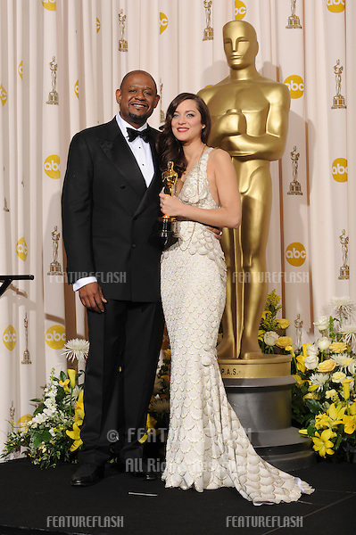 Marion Cotillard & Forest Whitaker at the 80th Annual Academy Awards at the Kodak Theatre, Hollywood..February 24, 2008 Los Angeles, CA.Picture: Paul Smith / Featureflash