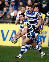 Photo: Richard Lane/Richard Lane Photography. Bath Rugby v Wasps. Aviva Premiership. 10/01/2015. Bath's George Ford.