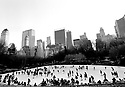 Skaters in Central Park ,New York January 1999 Photo Geraint Lewis
