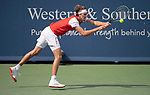 August 14,2019:   Alexander Zverev (GER) loses to Miomir Kecmanovic (SRB) 6-7, 6-2, 6-4, at the Western & Southern Open being played at Lindner Family Tennis Center in Mason, Ohio.  ©Leslie Billman/Tennisclix/CSM