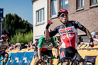 Caleb Ewan (AUS/Lotto Soudal) wins stage 5 after an uphill sprint<br /> <br /> 17th Benelux Tour 2021<br /> Stage 5 from Riemst to Bilzen (BEL/192km)<br /> <br /> ©kramon