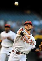 May 13, 2009; Phoenix, AZ, USA; Arizona Diamondbacks infielder Ryan Roberts against the Cincinnati Reds at Chase Field. Mandatory Credit: Mark J. Rebilas-