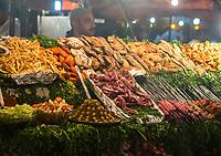 Marrakesh, Morocco.  Food Stand, Place Jemaa El-Fna.