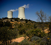Trillo nuclear power plant is a nuclear power plant in Spain in the municipality of Trillo (Guadalajara). It was inaugurated in 1987 is today the most modern nuclear power plant in Spain. Has 1,066 MW of installed capacity. Its water pressure reactor (PWR). Its system cooling is by natural towers April 9, 2011. (C) Pedro Armestre